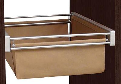 cesta extraible marrón