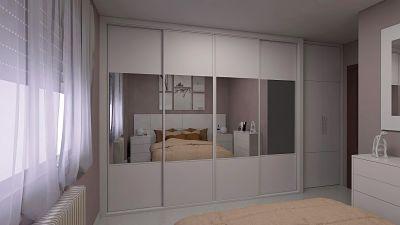 armario de 4 puertas correderas y armario 2 puertas abatibles