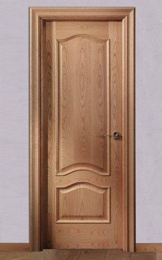 puerta roble barnizado
